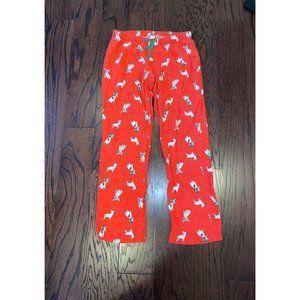 Women's Old Navy Red French Bulldog Pajama Pants